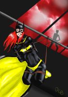 Batgirl tied agein by DarkChaosBlack