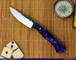 Purple Sidekick Knife by Logan-Pearce