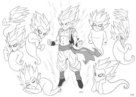 Gotenks and friends by R-no71