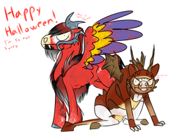 Happy Halloween! Love, Tempest and Ardor by 11IceDragon11