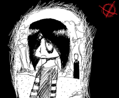 slender in ms paint by Zelda-muffins