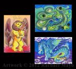 ACEO Archon 2012 Demo Pieces by rachaelm5