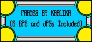 Vector Frames Pack by Karlika