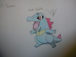 158# Totodile by StarsMoonWolf-Lover