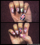 London 2012 Olympics Nail Art by RoseaLumina