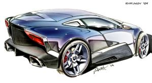 Concept car sketch 6 by Rykunov