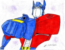 ready to fire  Optimus Prime Animated by ailgara