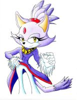 Old Art-Blaze the Cat Colored by BroDogz