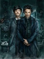 Sherlock Holmes and Dr.Watson by novicekid