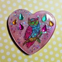 Resin Owl Pendant by TannerGrey