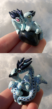 Mother and Baby Winter Dragons by KingMelissa