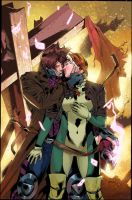 Gambit And Rogue Col by FabianCobos