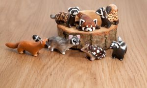 A bunch of polymer clay animal totems by lifedancecreations