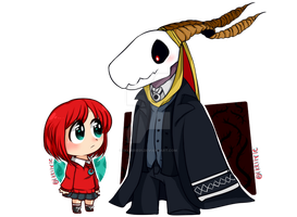 Elias Ainsworth And Chise Hotori by IkkiIirie01