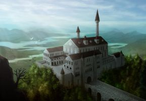 Castle Araleun by PaintedThoughts