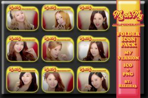 SNSD My Oh My MV Version Folder Icon Pack by Rizzie23