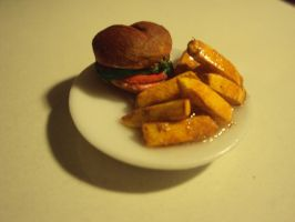 Burger and Chips by Pagan-Child