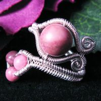 Rhodonite Adjustable Ring by Gailavira