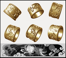 Oriental Kitsune ring design ~ FINISHED by goiku
