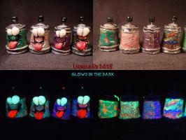 10 Plasma Spray Cans by Undead Ed Glows in the Dar by Undead-Art