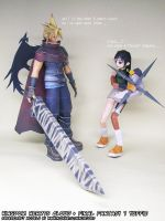 Kingdom Hearts Cloud + Final Fantasy VII Yuffie by ninjatoespapercraft