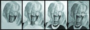 Tali'Zorah drawing by DavidEllisArtwork