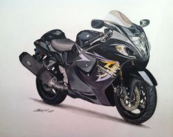 Suzuki Hayabusa Motorcycle DRAWING by PencilRick