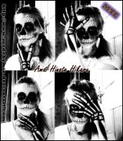 Skull makeup by MadebyMTE