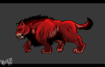 male Red Lion by sparkpenguin