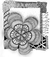 Zentangle #28 by Art-Ju