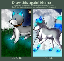 Before and after - meme by RippedMoon