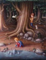 Fishes consulting by perodog