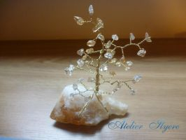 Citrine gem tree by Ilyere