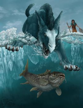 Iluliaq and the Carp by Ciameth