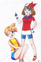 Misty and May by namrii