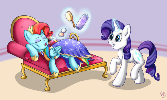 Sleepy Makeup Session (Request and SpeedPaint) by KiaraWizard01