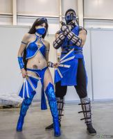 Kitana and  Sub-Zero by Jane-Po