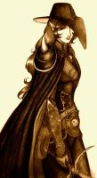 Vampire Hunter D 2011 Sepia by E1L0n3wy