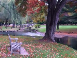 Binney Park in Autumn by davincipoppalag