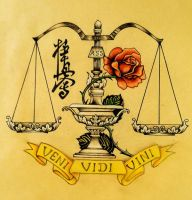 I came I saw I conquered. scales of justice by IOP-Designs