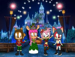 Merry Christmas from Amy Rose and her Friends by marvincmf