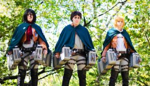 Trio - Shingeki No Kyojin by denni-cosplay