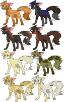 Make an offer Fox adoptables by Topdoggie7