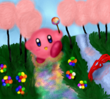 Kirby in Sweetland by Bluesheepy