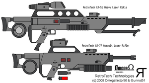 RetroTech Laser Rifles by omegafactor90
