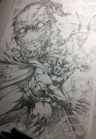 Batman vs Scarecrow by MARCIOABREU7