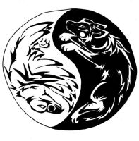 Eagle and Wolf Tattoo by First-Nations
