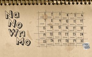 NaNoWriMo Notebook Wallpaper 2 by stefania-zee