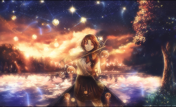 The violist of the lake by ShanielGFX