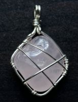Rose Quartz pendant by lamorth-the-seeker